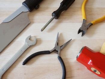 強化買取品の工具類の写真